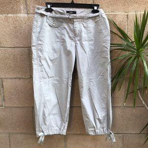 Express Lightweight Capri Pants Grey Size 6